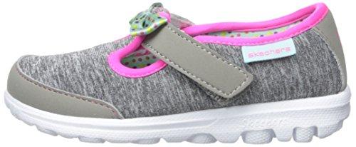 Skechers Kids Go Walk Bitty Bow Sneaker (Toddler/Little Kid),Gray/Multi, by Skechers (Image #5)