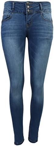 De la Mujer de cera Juniors cuerpo Flattering Mid Rise Skinny Jeans