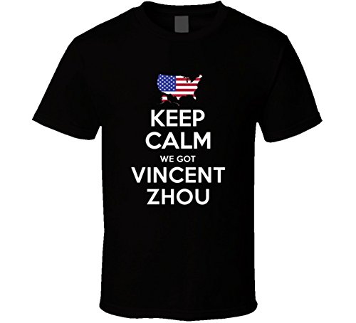 Keep Calm We Got Vincent Zhou Figure Skating USA 2018 Winter Olympic Team T Shirt 2XL Black