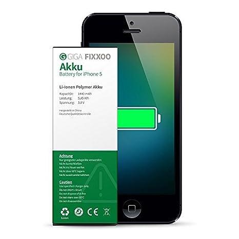 1e1c063e17c GIGA Fixxoo Batteria agli Ioni di Litio di Ricambio per iPhone 5  Alta  Durata e