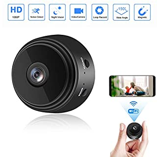 Mini Hidden Camera WiFi Small Wireless Full HD 1080P Video Camera with 32G SD Card, Portable Tiny Nanny Cam with Night Vision Motion Detection for Office, Car and More