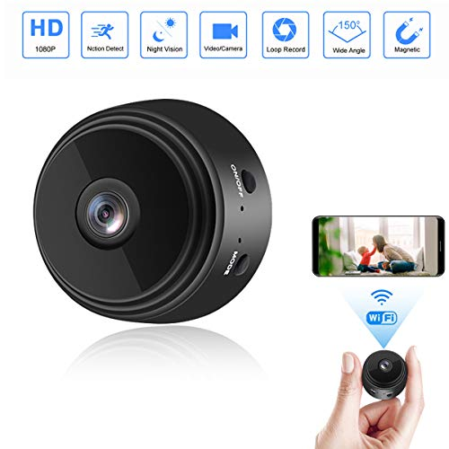 🥇 Mini Camera WiFi Wireless Video Camera 1080P HD Small Home Security Surveillance Cameras with 32G SD Card