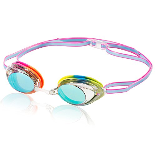 Pvc Soft Toy (Speedo Vanquisher 2.0 Mirrored Swim Goggle, Rainbow)