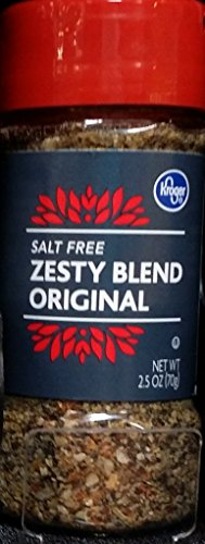Kroger Salt Free Zesty Blend Original 2.5 Oz (Pack of 3) by Kroger