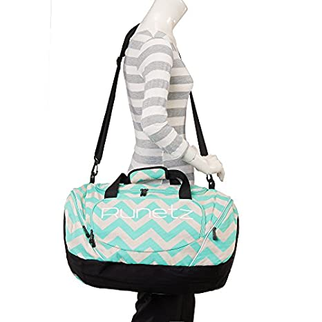 Runetz - Chevron Hot TEAL Blue Gym Bag Sport Shoulder Bag for Men ... 29cd585707