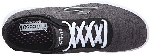 nbsp;Sport Step Black Baja Heather White Zapatilla Mujer Skechers Go gBxqqU
