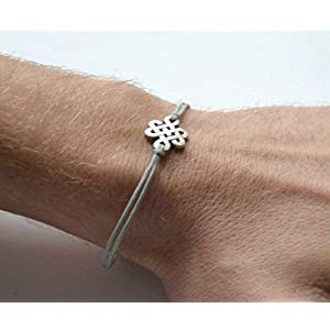 infinity-bracelet-for-men-with-silver-endless-knot