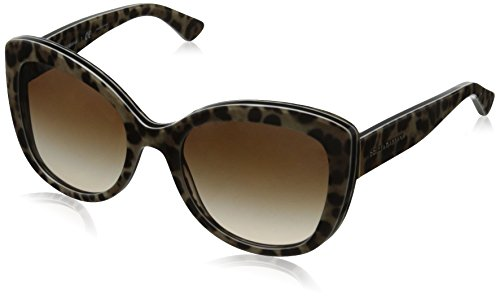 D&G Dolce & Gabbana Women's Enchanted Beauties Cateye Sunglasses, Top Leo On Leo & Brown Gradient, 53 - Eye Cat D&g Sunglasses