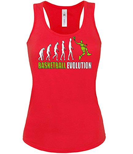 Sport - BASKETBALL EVOLUTION - mujer camiseta Tamaño S to XXL varios colores S-XL Rojo / verde