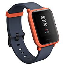 Amazfit Bip Smart Watch Xiaomi Huami GPS Real-time Heart Rate Monitor Bluetooth Sports Smart Watch [32g Ultra Light] [IP68 Water-Proof] [45-days Standby] English Version (Cinnabar Red)