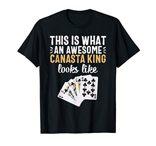 Canasta T-shirt Queen King Card Game Grandma ()
