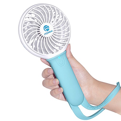 Ftonda Portable Handheld Fan,Rechargeable USB Powered Fan with Battery for Charging Smart Phone, Outdoor Fan with Light for Rio Olympic Games, Camping,Hiking,Climbling Cooling - Summer Olympic Basketball Sport Is A