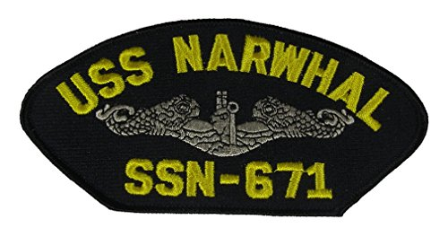 Uss Dolphin - USS NARWHAL SSN-671 Silver Dolphin PATCH - Veteran Owned Business