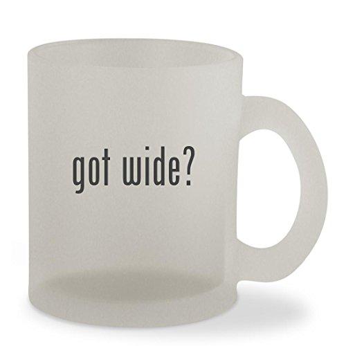 got wide? - 10oz Sturdy Glass Frosted Coffee Cup Mug
