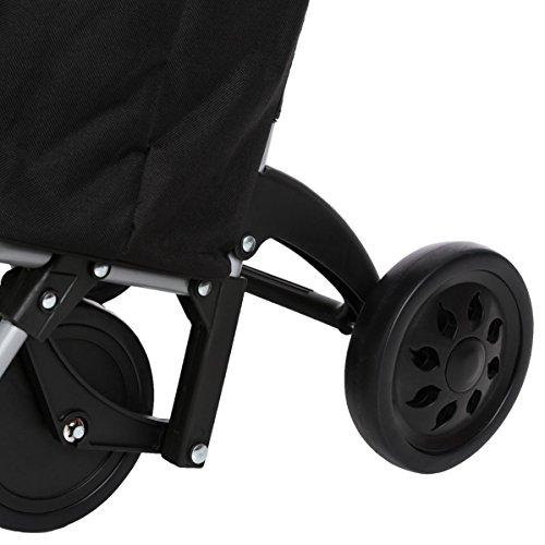 Einkaufstrolley mit 4 Rädern - sehr stabil - platzeinsparend - Kapazität 30L