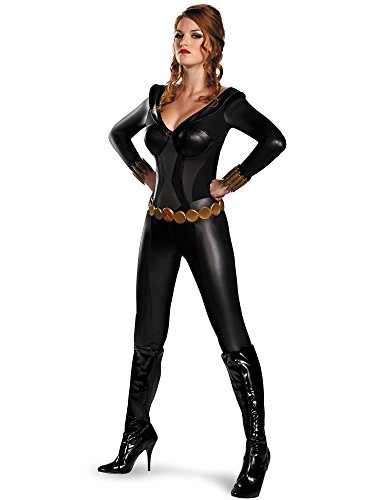 Disguise Women's Marvel Black Widow Bustier Costume, Black, Large/12-14 -