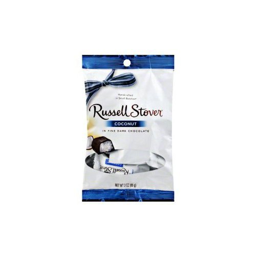 Russell Stover Coconut in Fine Dark Chocolate 3 Oz Bags, Pack of 3 Bags