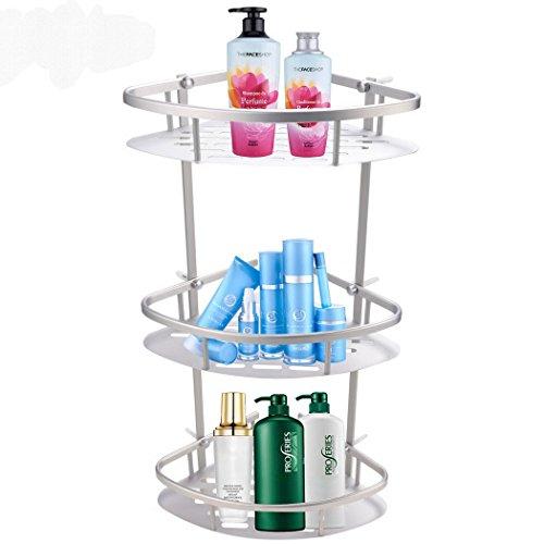 Cheap  FDegage Aluminum Bathroom Triangle Corner Shelf 3 Tiers Shower Wall Shelves Kitchen..