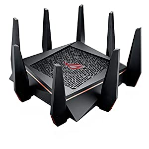 ASUS Gaming Router Tri-Band WiFi (Up to 5334 Mbps) for VR & 4K Streaming, 1.8GHz Quad-Core Processor, Gaming Port, Whole…