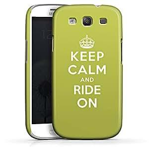 Carcasa Design Funda para Samsung Galaxy S3 i9300 / LTE i9305 PremiumCase white - Keep calm and ride on