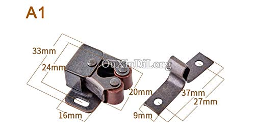 HOT 10PCS Kitchen Cabinet Catches Door Latch Clips Cupboard Cabinet Door Catches Stops Closet Wardrobe Furniture Hardware - (Color: A2) by Kasuki (Image #6)