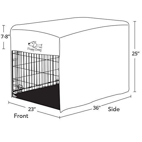 Floppy Dawg Crate Cover. Fits 36 Inch Dog Crates or Smaller. Easy to Put On, Take Off, and Adjust. Doubles as a Comfy Blanket. Slate Gray Lightweight and Breathable Polar Fleece. by Floppy Dawg (Image #3)
