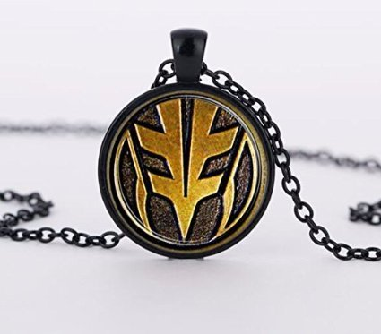Jewelry tycoon®Mighty Morphin Power Rangers Glass Necklace Art Picture Pendant White Ranger Pendant Necklace for Men Jewelry -