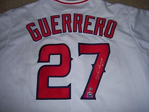 Uniform Majestic - Vladimir Guerrero Autographed Uniform - Gray Majestic - Autographed MLB Jerseys