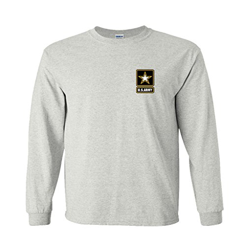 Fair Game U.S. Army Star Logo Chest Print Long Sleeve (Army Adult Long Sleeve T-shirt)