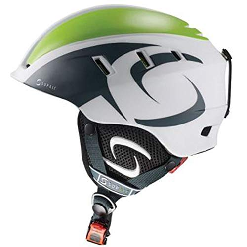 Supair White & Green PPG, Paramotor Paragliding Adjustable S to L Helmet from Supair
