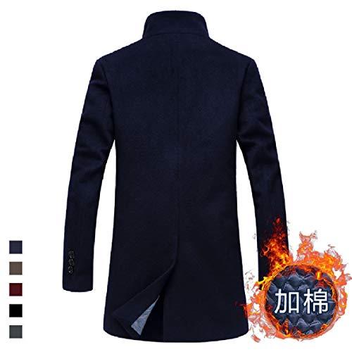 Md Stand Outwear Cotton 1 Collar Mens Thickening Long Cardigan Parka XINHEO Plus wFAIqOx