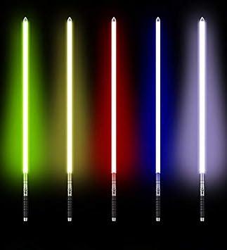 UPSTONE Kybers Basic Series Single Color Metal Hilt Lightsaber Light Saber with Sound Aluminum Hilt Silver hilt Blue Light