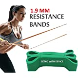 GETKO WITH DEVICE Fitness Rubber Bands Resistance Band Unisex Yoga, Gym Athletic Assisted Pull Up Bands Loop Expander for Exercise Sports Equipment