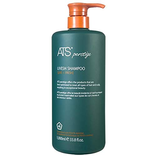 ATS Perstige Livesh Shampoo - 1000ML, Hair Loss and Growth Silicone Free Shampoo by ATS