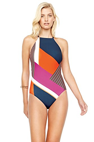 Gottex-Womens-Maritime-One-Piece-High-Neck-Swimsuit