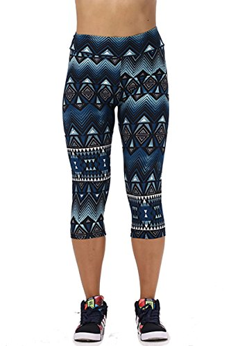 Women's Active Workout Capri Leggings Shorts Stretchy Tights(Dark Green,XL)