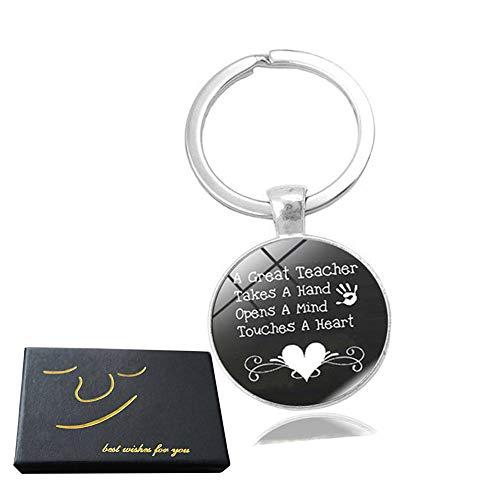 Teacher Appreciation Gift - Teacher Keychain for Women Thank You Gifts for Teachers Birthday Valentine's Day Christmas Gifts for Teachers (Under Christmas Teacher Gifts $5)