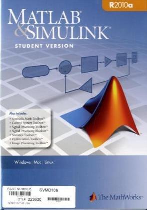 MATLAB & Simulink Student Version 2010a