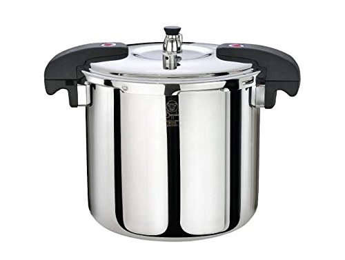 Buffalo qcp415 15-quart stainless steel pressure cooker