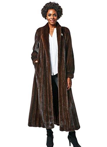 Female Mink Fur Coat - NAFA or SAGA Select Female Mink Fur Coat with Full Swing(Demi-Buff,18)