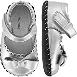 Baby : pediped Originals Betty Mary Jane (Infant),Silver,Medium (12-18 Months)