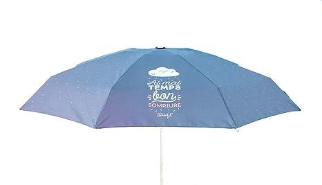 "Paraguas plegable Mr. Wonderful ""Els dies grisos també molen"" ..."