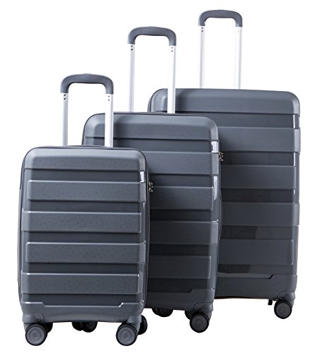 LGO Travel Luggage 3PCS Unbreakable Suitcases TSA Lock Spinner Wheels Lightweight 20''24''28'' by LGO