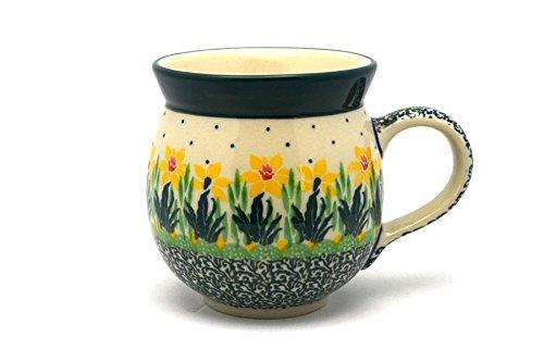 (Polish Pottery Mug - 11 oz. Bubble - Daffodil)