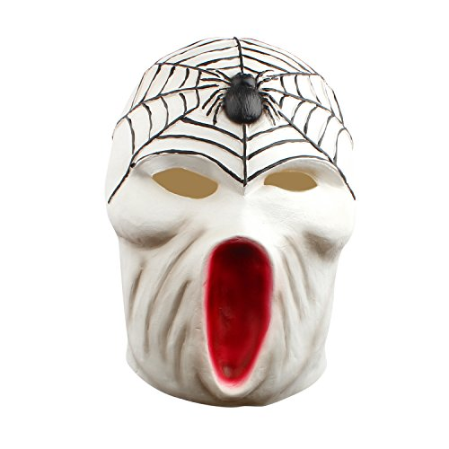 Halloween Spider Mask Funny Horror Scary Masks Latex Masquerade Full Face Costume Party Decoration -