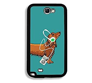 Shawnex Springink Hipster Weiner Dog Music Thinshell Case Protective Note 2 Case