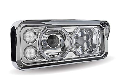 Trux Universal LED Projector Headlight Assembly - Chrome, Passenger's Side, Model# TLED-H101
