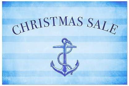CGSignLab 5-Pack Nautical Stripes Window Cling 27x18 Christmas Sale