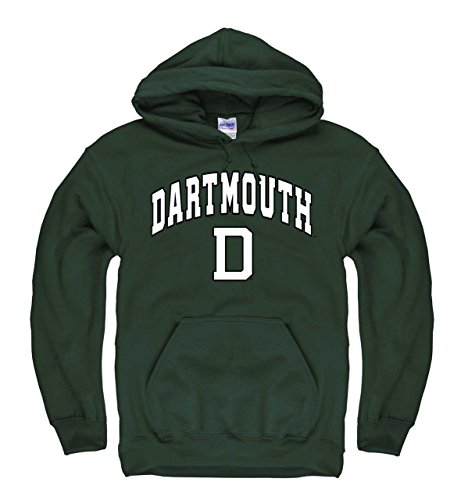 Team Logo Dart - Campus Colors Dartmouth Big Green Arch & Logo Gameday Hooded Sweatshirt - Green, Medium