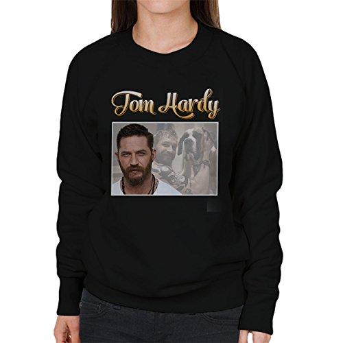 Tom Hardy St Bernard Tribute Montage Women's Sweatshirt Black